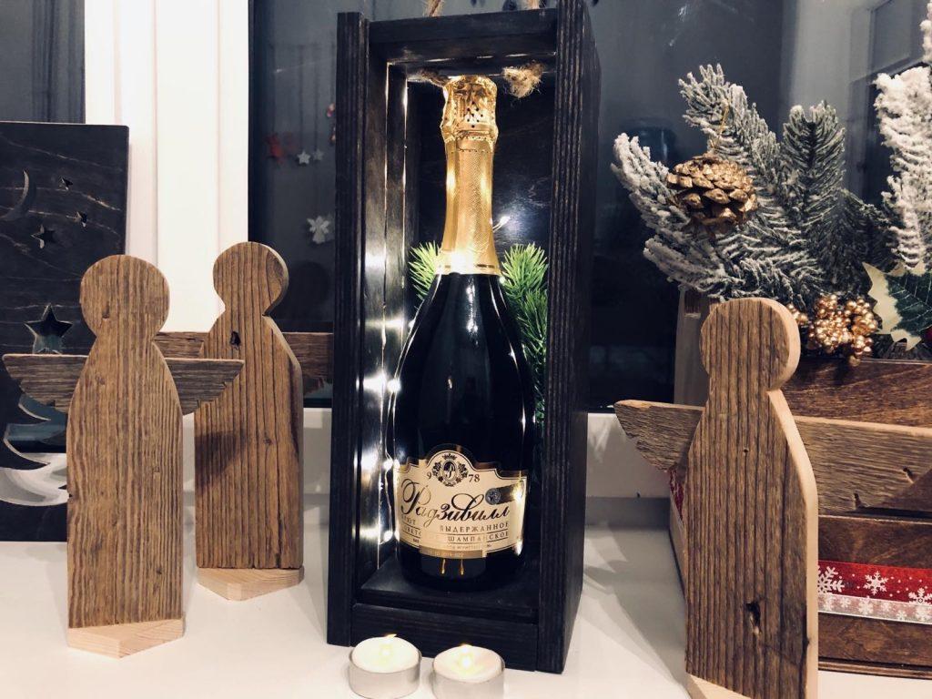 Мастер-класс «Коробка для вина с подсветкой»